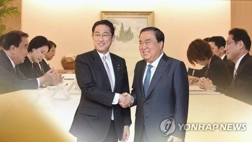 """문희상, 日외상에 """"국민 대다수 위안부 합의 수용못해""""(CG)"""