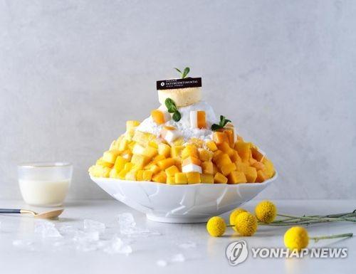망고 빙수 [연합뉴스 자료사진]