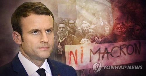 총선 압승 마크롱, 노동단체와 일전 예고 (PG)