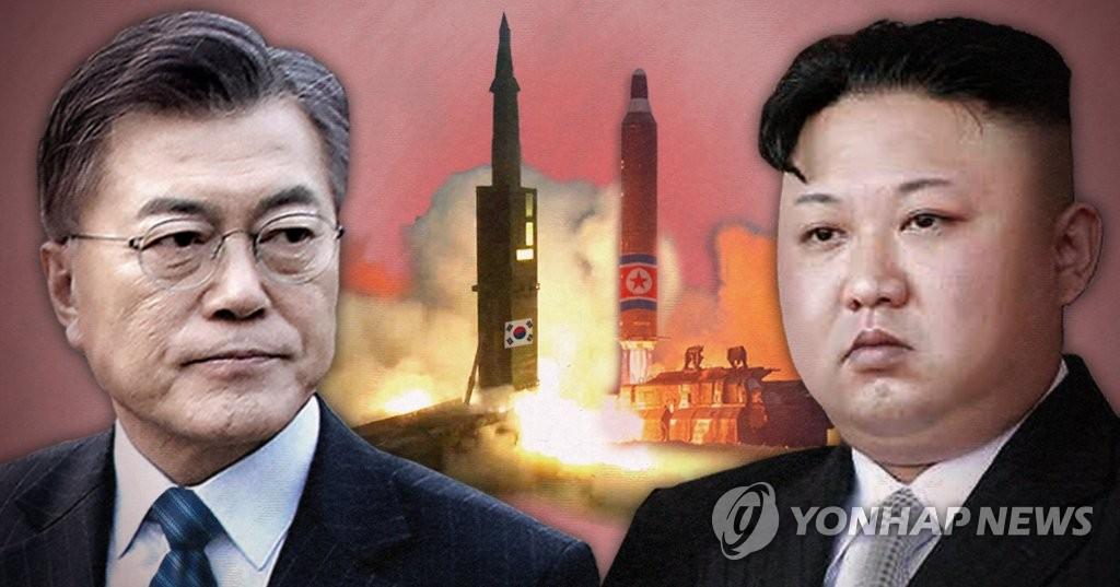 문재인 대통령(왼쪽)과 김정은 (PG)