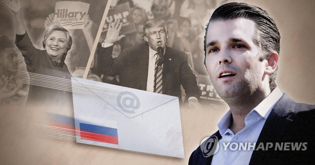 트럼프 장남, '러시아가 트럼프 당선 지원' 이메일 받았다 (PG)