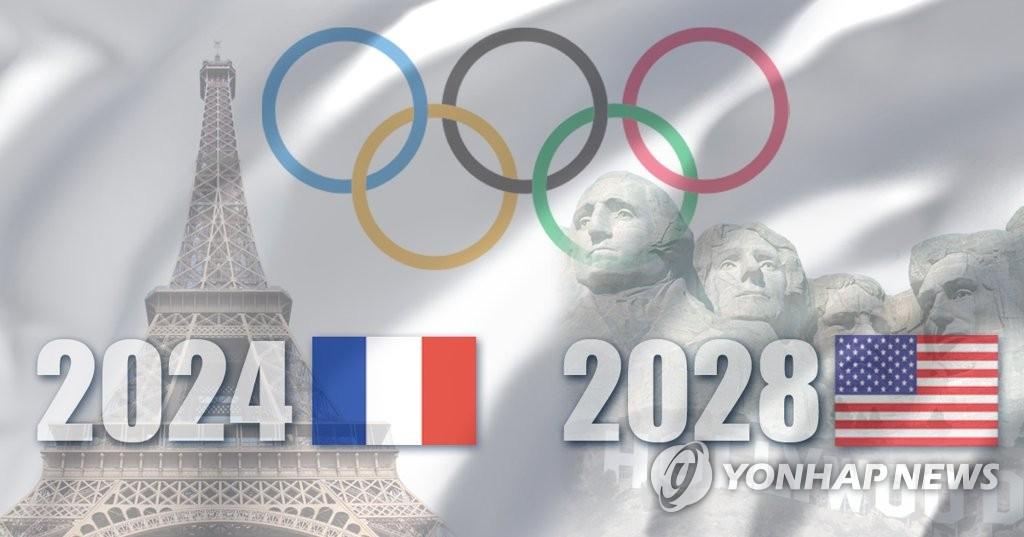 2024년·2028년 올림픽 개최지 파리·LA 확정 (PG)