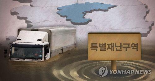 청주 등 충북 폭우피해지역 특별재난지역 지정 검토(PG)