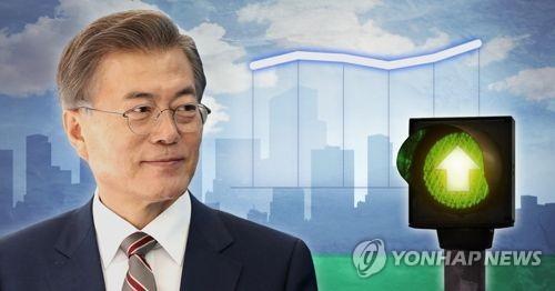 문재인 대통령 지지율 상승 (PG)