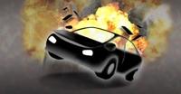 불타는 차 안에 쓰러진 남성, 다른 운전자가 구해