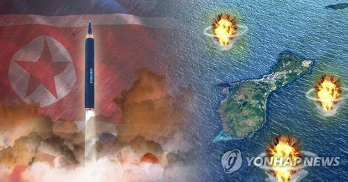 북한,'화성-12'로 괌 포위사격 작전 위협(PG)