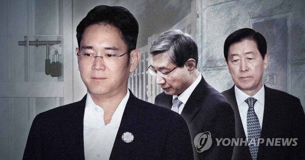 삼성 이재용 부회장·전직임원 등 1심 선고 (PG)
