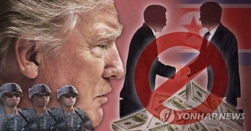 미국, 대북 세컨더리 보이콧 및 군사대응 경고 (PG)