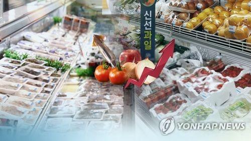 農畜水産物と果物が大幅に値上がりした=(聯合ニュースTV)