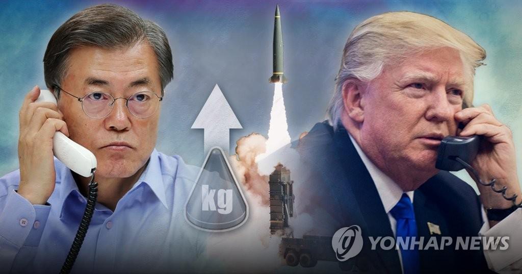 文대통령-트럼프, 미사일지침 탄두중량 제한 전격 해제 합의 (PG)