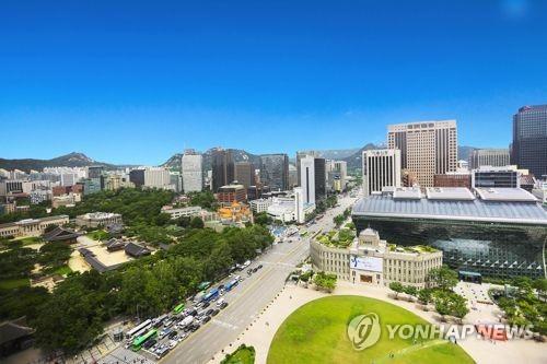 ソウル市庁とその周辺(資料写真)=(聯合ニュース)