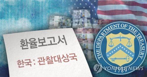 미 재무부 환율보고서 발표, 한국 관찰대상국으로 분류(PG)