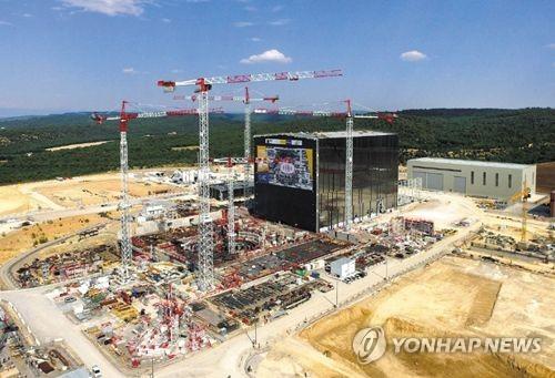프랑스 카다라쉬 국제핵융합실험로(ITER) 건설 현장