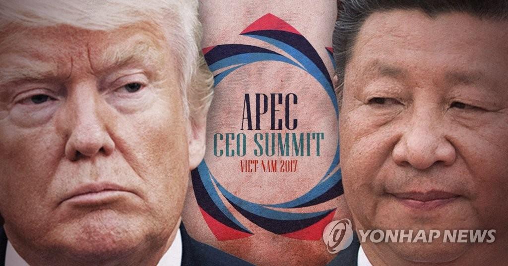 미중 정상, APEC 최고경영자 회의서 상반된 선언 (PG)