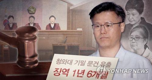 정호성 전 청와대 부속비서관, 1심에서 실형 선고 (PG)