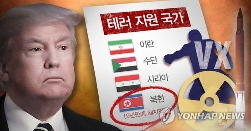 트럼프, 북한 테러지원국 재지정 (PG)
