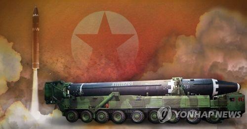 북한 '화성-15형' ICBM급 신형 미사일(PG)