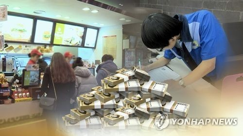 최저임금 근로 (CG)  [연합뉴스TV 제공]