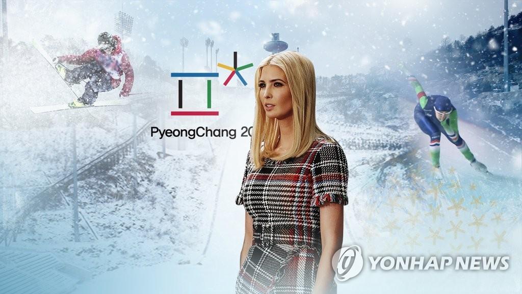"""CNN """"이방카, 평창올림픽 폐막식 참석"""" (CG)"""
