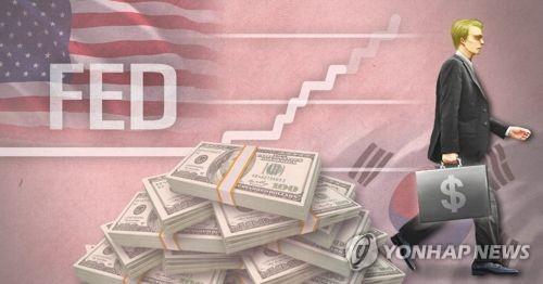 미 금리 인상에 따른 한국 자금 유출 우려(PG)