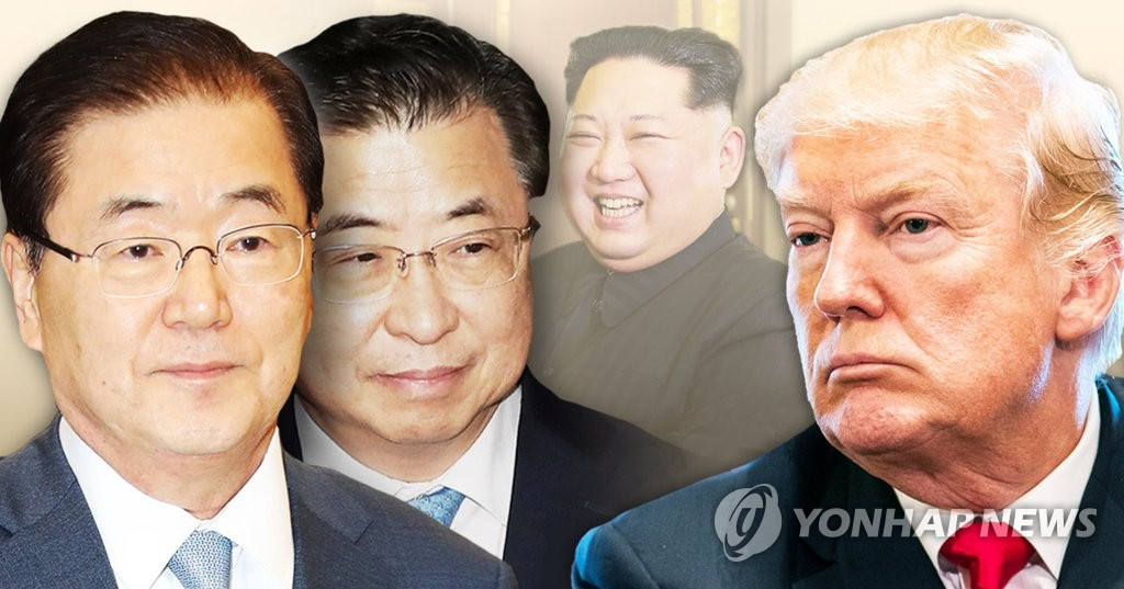 대북특사 정의용ㆍ서훈, 미 트럼프 대통령 만나 북한 의사 전달 예정(PG)