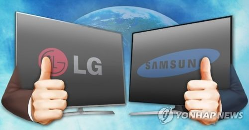 (News Focus) Samsung, LG lock horns in premium TV market