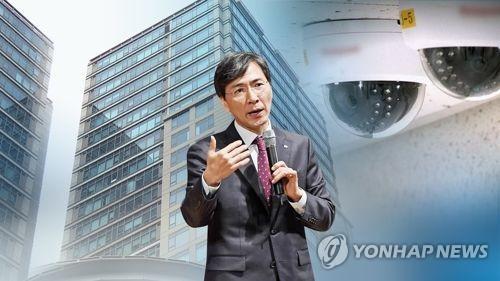 '성폭행 지목' 오피스텔 CCTV서 안희정•김지은 출입 확인 (CG)