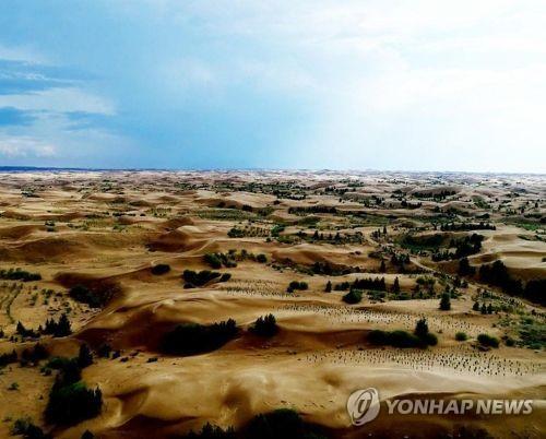 중국 네이멍구자치구 쿠부치 사막