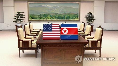 북미정상회담(CG) [연합뉴스TV 제공]