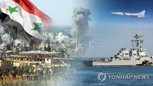 시리아 확전 '일촉즉발' 위기…서방-러 전면충돌 우려 (CG)