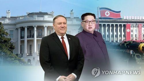 """WP """"폼페이오, 부활절 주말 극비방북해 김정은 만나"""" (CG)"""