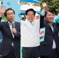 '박원순-김문수-안철수' 서울시장 3파전…구도대결 점화