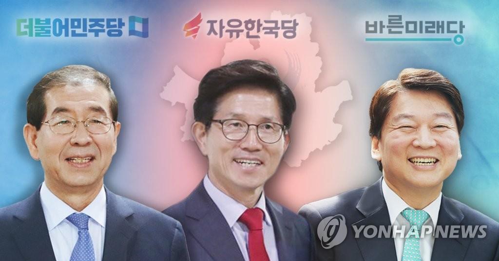 박원순-김문수-안철수 서울시장 3파전 (PG)