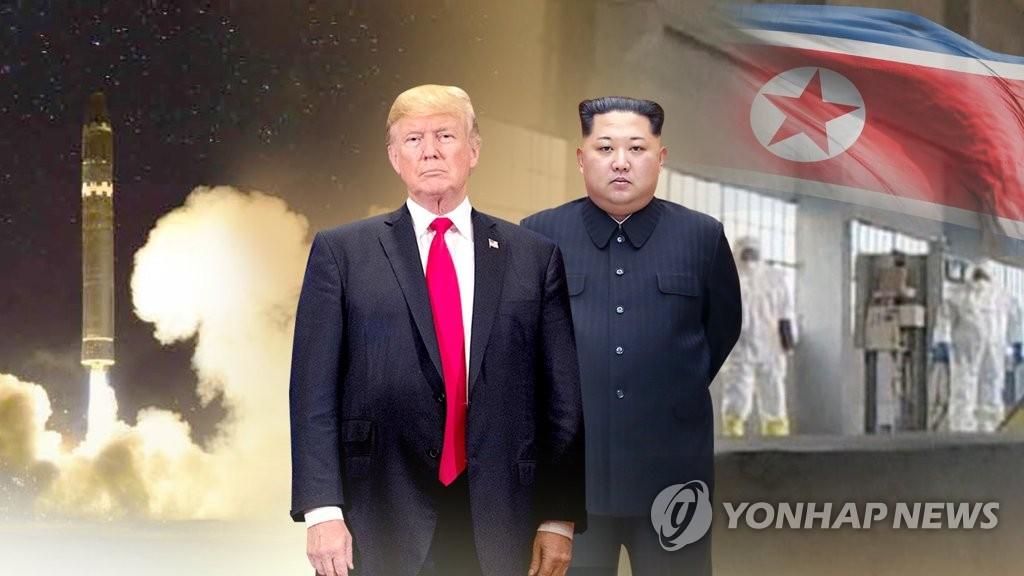 트럼프, 김정은에 체제안전보장 확약… (CG)  [연합뉴스TV 제공]