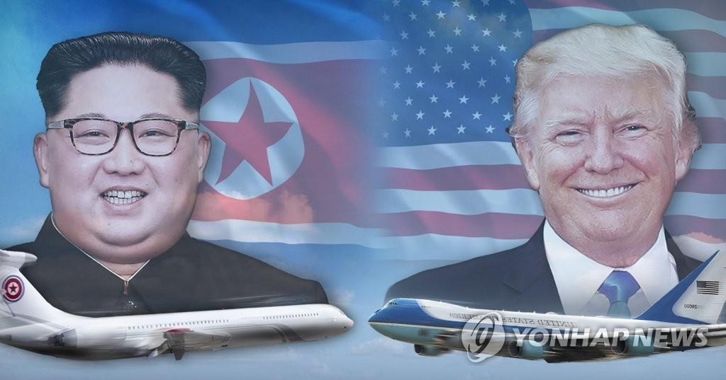 북미 정상 전용기 '참매1호'와 '에어포스원' (PG)