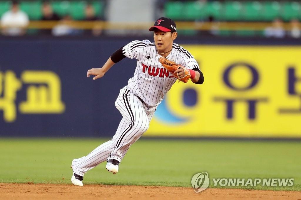 LG 내야수 정주현 [연합뉴스 자료사진]