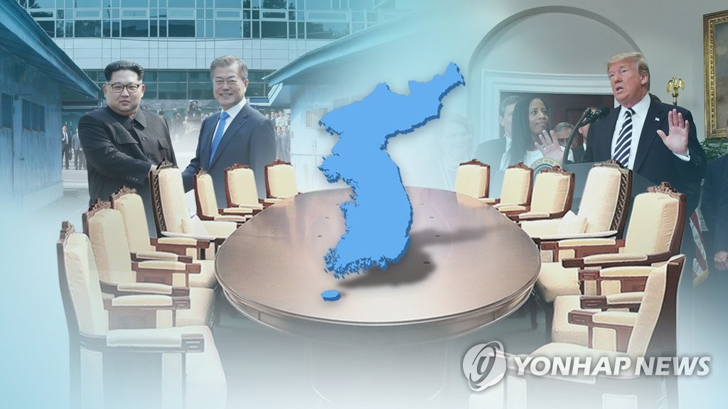 한반도 통일 논의(CG) [연합뉴스TV 제공]