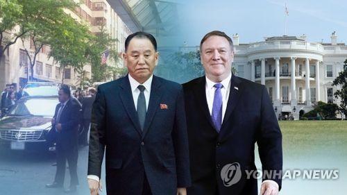 김영철·폼페이오 북미고위급 회담 연기(CG)