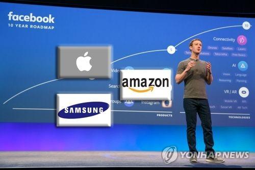 페이스북·애플·삼성·아마존 (CG)