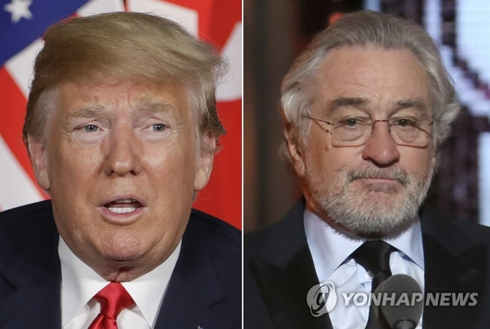 도널드 트럼프 미국 대통령과 할리우드 배우 로버트 드니로