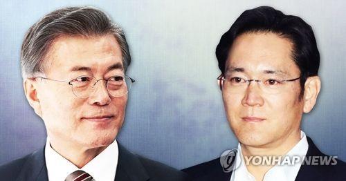 삼성 이재용 부회장 문재인 대통령과 회동할까(PG)