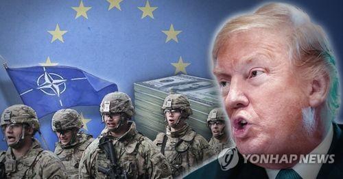 트럼프, 유럽 나토 회원국 국방비 지출 증액 요구 (PG)