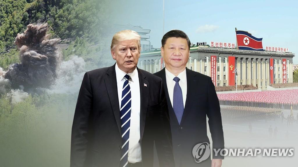 트럼프, 비핵화 협상관련 '중국 배후론' 제기 (CG)