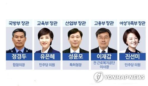 5개부처 장관 후보자 (CG)
