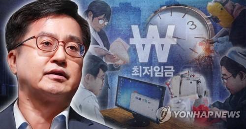 김동연_최저임금 인상 속도 조절 (PG)