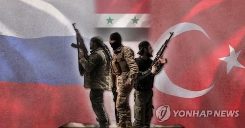 시리아 반군과 러시아-터키 입장 (PG)