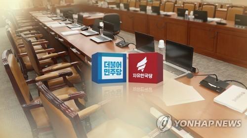 """민주 """"한국당, 국감장 난장판으로"""" 한국 """"훔쳐간 국민일자리 내놓아야"""""""