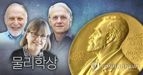 '레이저 혁명' 美佛加 연구자 3명 노벨물리학상…여성 55년만에(종합2보)