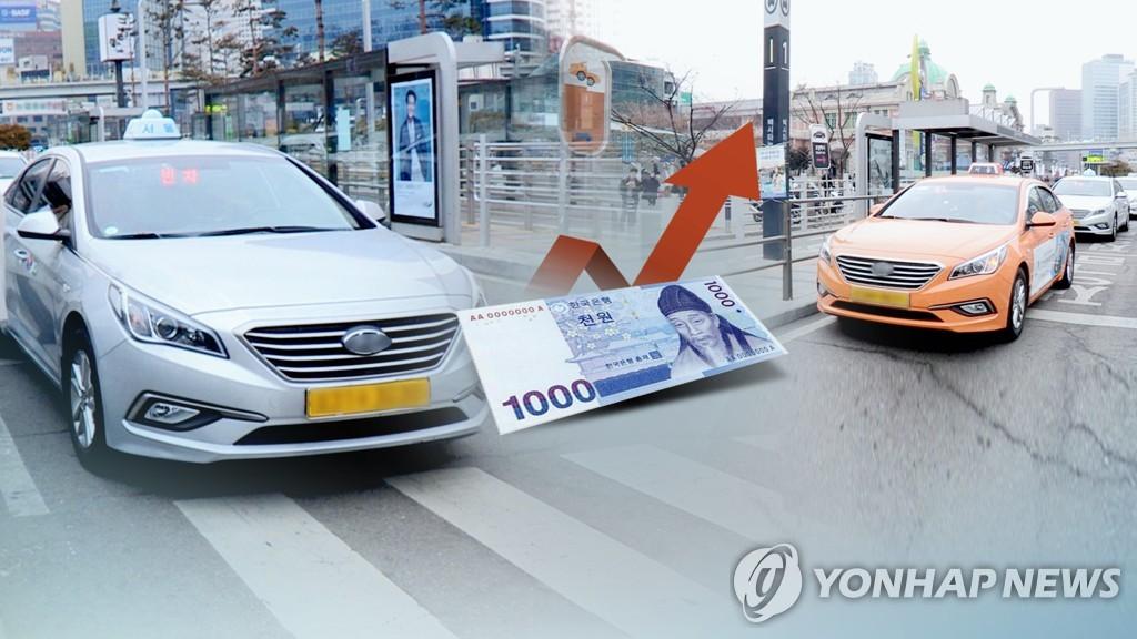택시 기본요금 인상 추진(CG)