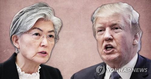 트럼프,강경화 '5·24 제재' 해제 검토 발언에 제동 (PG)